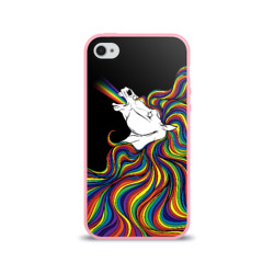 Белый конь с радужной гривой