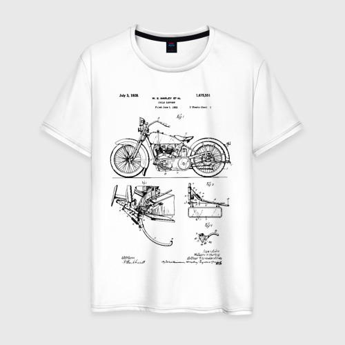 Мужская футболка хлопок Patent Harley