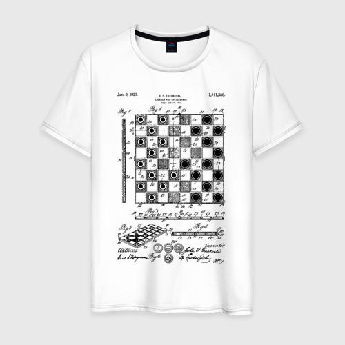Мужская футболка хлопок Patent - Chess board
