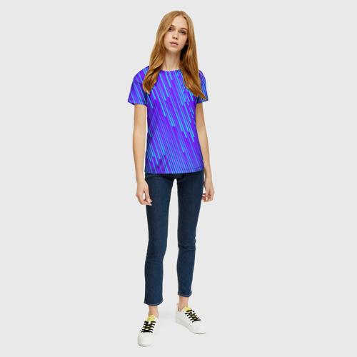 Женская футболка 3D Неоновые Линии Фото 01
