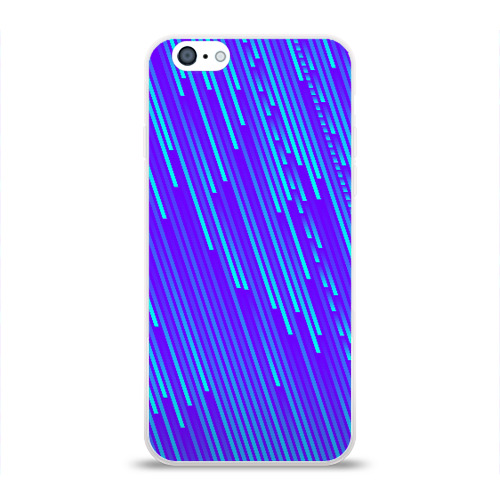 Чехол для Apple iPhone 6 силиконовый глянцевый Неоновые Линии Фото 01