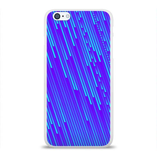 Чехол для Apple iPhone 6Plus/6SPlus силиконовый глянцевый Неоновые Линии Фото 01