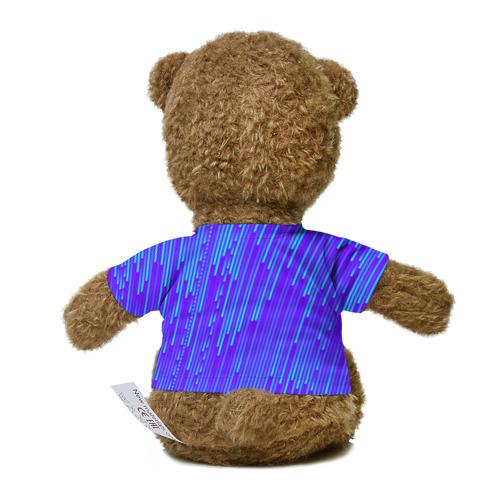 Миша в футболке 3D Неоновые Линии Фото 01