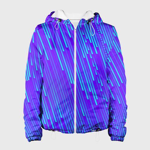 Женская куртка 3D Неоновые Линии Фото 01