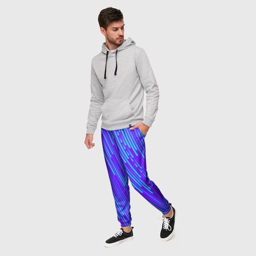 Мужские брюки 3D Неоновые Линии Фото 01