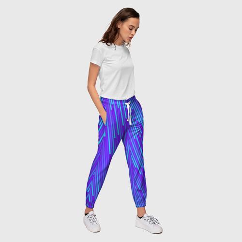 Женские брюки 3D Неоновые Линии Фото 01