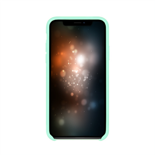 Чехол для iPhone X глянцевый Неоновые Линии Фото 01