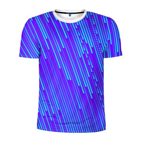 Мужская футболка 3D спортивная Неоновые Линии Фото 01