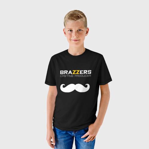 Детская футболка 3D Brazzers Casting-producer