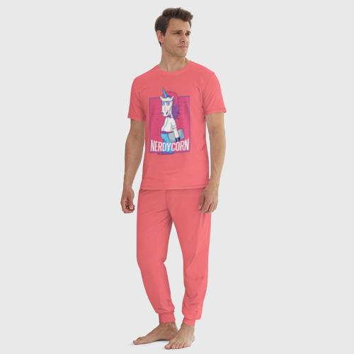 Мужская пижама хлопок Умный Единорог Фото 01