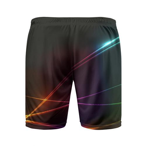 Мужские шорты спортивные Неоновые Линии Фото 01