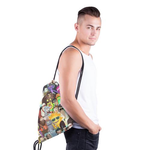 Рюкзак-мешок 3D Рик и Морти Фото 01