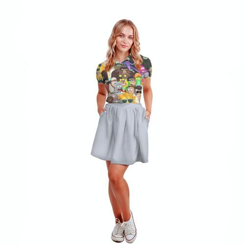 Женская рубашка поло 3D Рик и Морти Фото 01