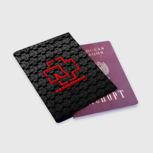 Обложка для паспорта матовая кожа RAMMSTEIN Фото 01