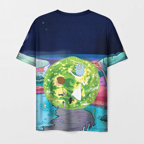 Мужская футболка 3D Путешествия Рик и Морти Фото 01