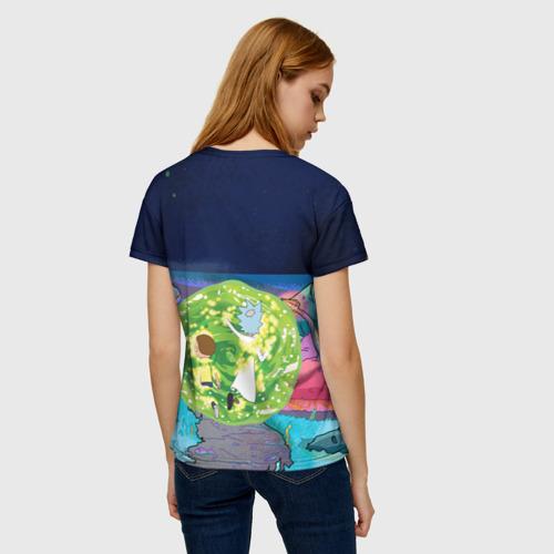 Женская футболка 3D Путешествия Рик и Морти Фото 01
