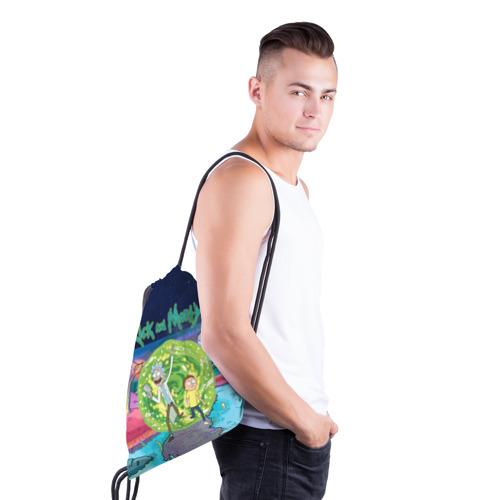 Рюкзак-мешок 3D Путешествия Рик и Морти Фото 01