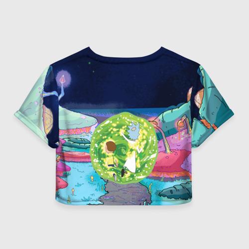 Женская футболка Cropp-top Путешествия Рик и Морти Фото 01