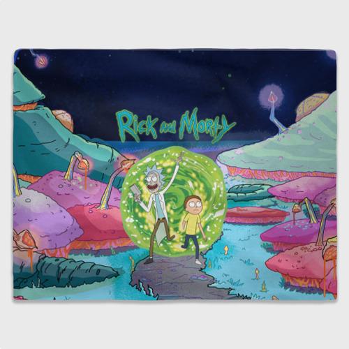Плед 3D Путешествия Рик и Морти Фото 01