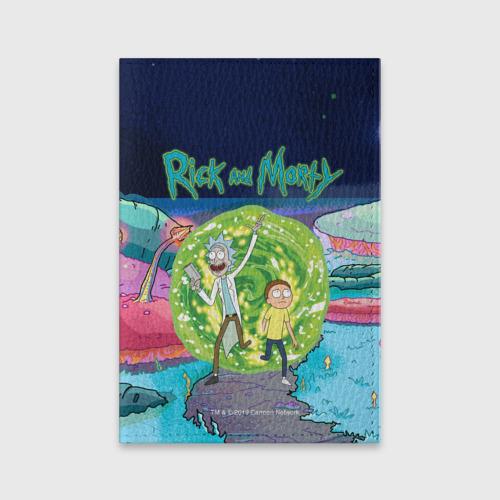 Обложка для паспорта матовая кожа Путешествие Рика и Морти Фото 01