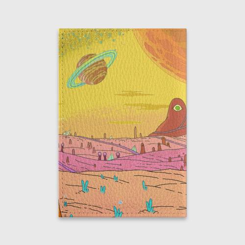 Обложка для паспорта матовая кожа Рик и Морти Фото 01