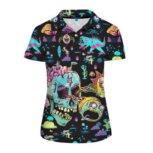 Женская рубашка поло 3D Monsters Rick and Morty Фото 01
