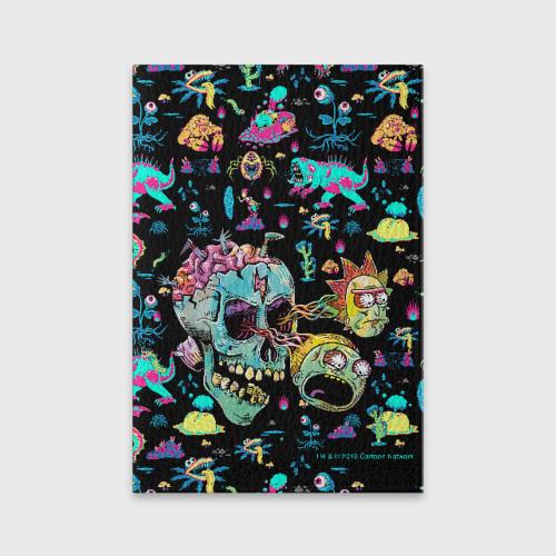Обложка для паспорта матовая кожа Monsters Rick and Morty Фото 01