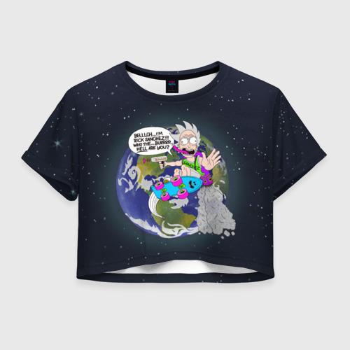 Женская футболка Cropp-top Мелкий Рик Фото 01