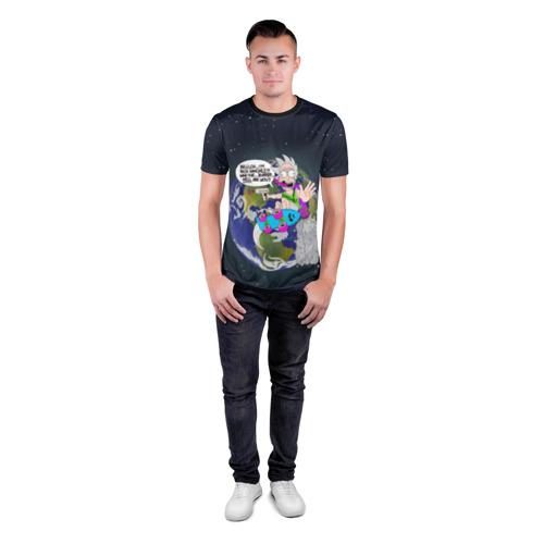 Мужская футболка 3D спортивная Мелкий Рик Фото 01