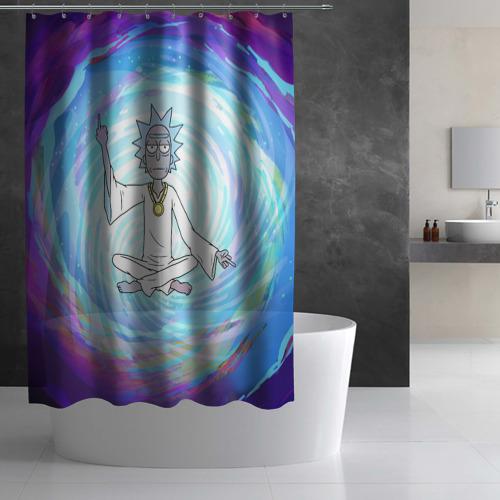 Штора 3D для ванной Rick in nirvana Фото 01