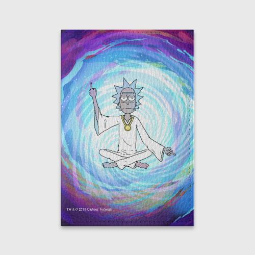Обложка для паспорта матовая кожа Rick in Nirvana Фото 01