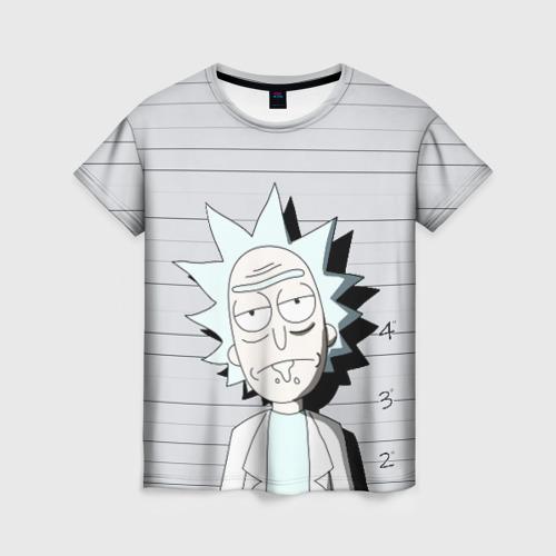 Женская футболка 3D Rick is in prison Фото 01