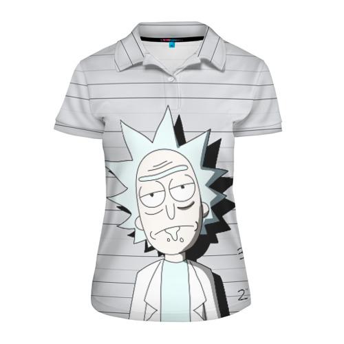 Женская рубашка поло 3D Rick is in prison Фото 01