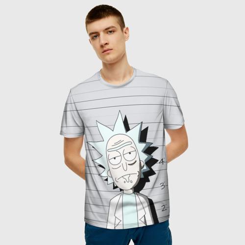 Мужская футболка 3D Rick is in prison Фото 01