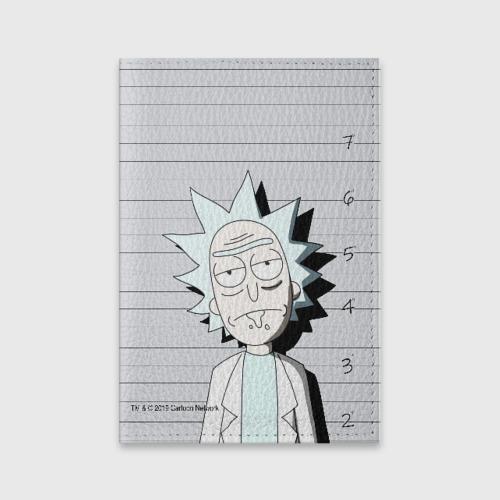 Обложка для паспорта матовая кожа Rick is in prison Фото 01