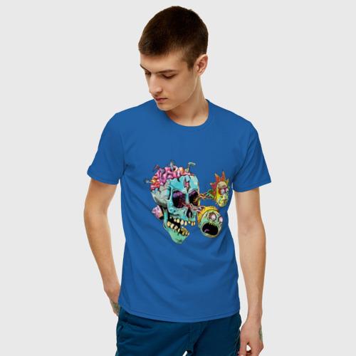 Мужская футболка хлопок Монстры Рик и Морти Фото 01