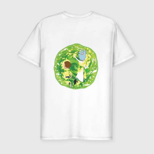 Мужская футболка премиум  Rick and Morty in the portal Фото 01
