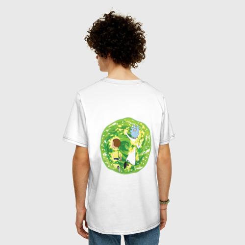 Мужская футболка хлопок Oversize  Rick and Morty in the portal Фото 01