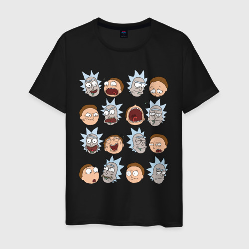 Мужская футболка хлопок Faces Rick and Morty Фото 01