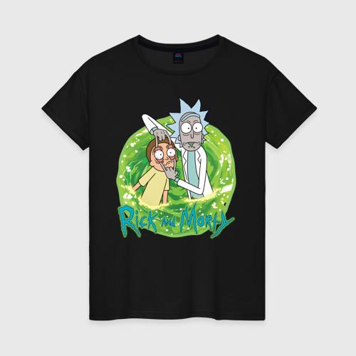 Женская футболка хлопок Rick Sanchez and Morty Smith Фото 01