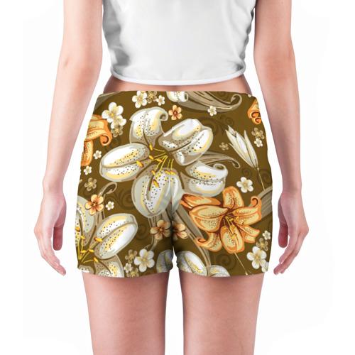 Женские шорты 3D Цветы Фото 01