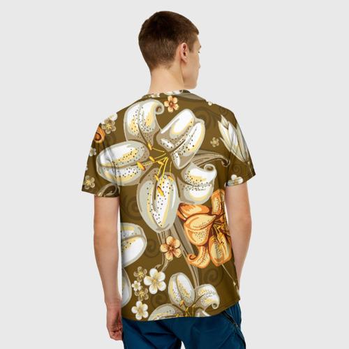 Мужская футболка 3D Цветы Фото 01