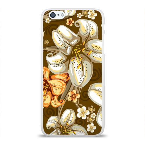 Чехол для Apple iPhone 6Plus/6SPlus силиконовый глянцевый Цветы Фото 01
