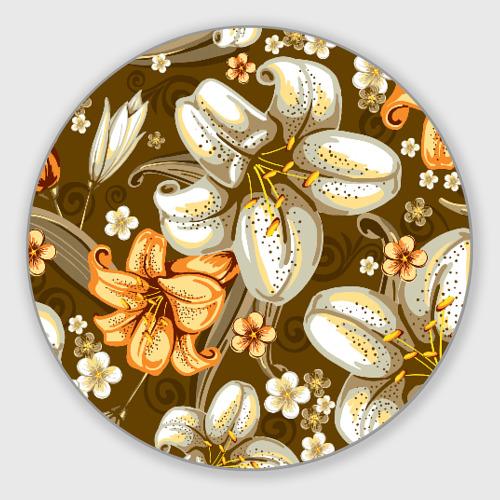 Коврик для мышки круглый Цветы Фото 01