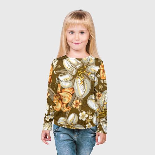 Детский лонгслив 3D Цветы Фото 01