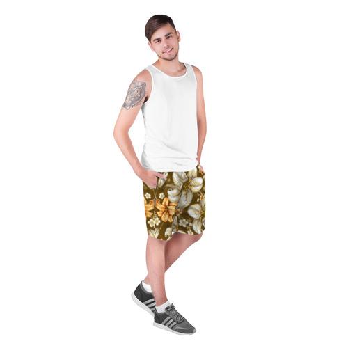 Мужские шорты 3D Цветы Фото 01