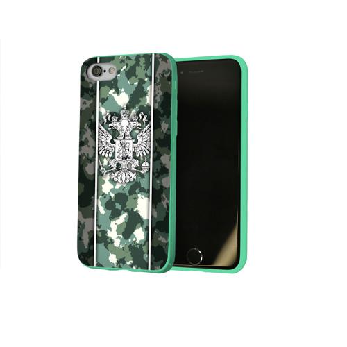 Чехол для Apple iPhone 8 силиконовый глянцевый Герб РФ Фото 01