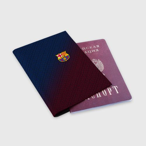 Обложка для паспорта матовая кожа FC BARCELONA Фото 01