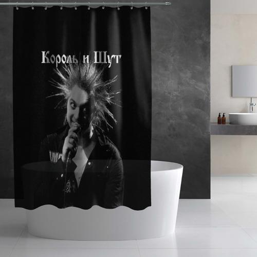 Штора 3D для ванной Король и Шут + Анархия (спина) Фото 01