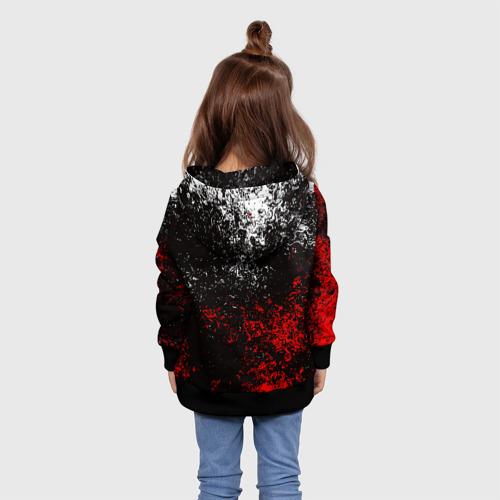Детская толстовка 3D АТАКА ТИТАНОВ. Бело-красная тема Фото 01